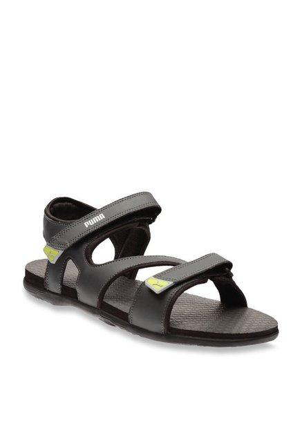a659cfccc843 Buy Puma Elego IDP Asphalt Grey Floater Sandals for Men at Best Price    Tata CLiQ