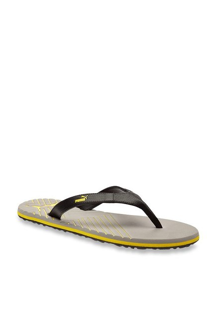a8f405e7368 Buy Puma Webster Black   Steel Grey Flip Flops for Men at Best Price   Tata  CLiQ