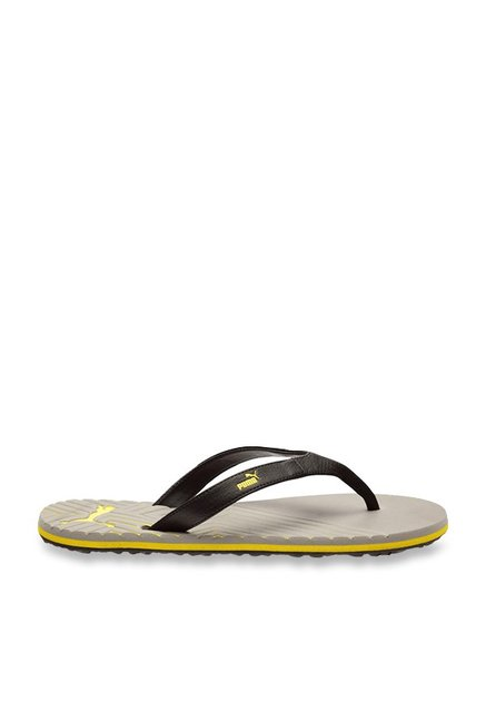 dd79edadc73 Buy Puma Webster Black   Steel Grey Flip Flops for Men at Best Price ...