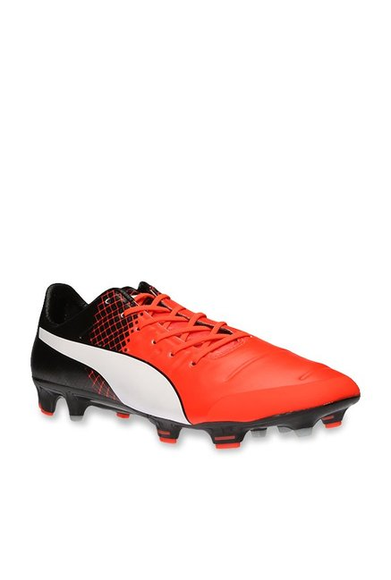 5e240f67664427 Buy Puma evoPOWER 1.3 FG Red Blast   Black Football Shoes for Men at Best  Price   Tata CLiQ