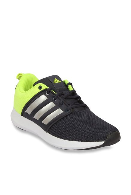 732a611a6baf Buy Adidas Black   Lime Green Running Shoes for Men at Best Price   Tata  CLiQ