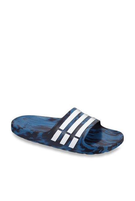 6657f802b Buy Adidas Duramo Blue   White Casual Sandals for Men at Best ...