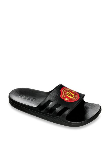 0fcda96b737d Buy Adidas Aqualette CF MUFC Black Casual Sandals for Men at Best ...