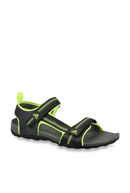 217c5a4755d0 Buy Adidas Galore Path Black   Volt Green Floater Sandals for Men at ...