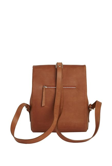 6cee8230ffe5 Buy Tohl Rp1 Mott Cognac Tan Solid Leather Backpack For Women At ...