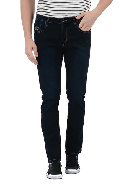 Buy Pepe Jeans Dark Blue Mid Rise Lightly Washed Jeans for Men ... dd6878bf2db