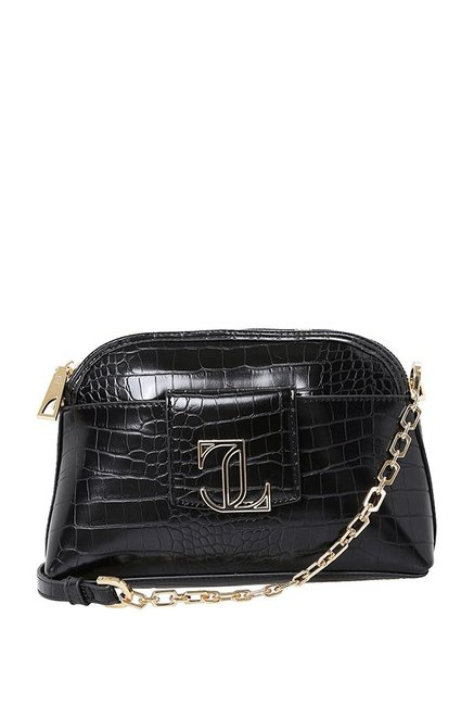 c7a215bde9e7 Buy Jennifer Lopez Max Mini Black Textured Sling Bag For Women At Best  Price   Tata CLiQ