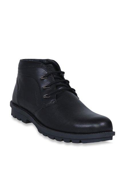 ea34fede2e Buy Woodland Black Chukka Boots for Men at Best Price @ Tata CLiQ
