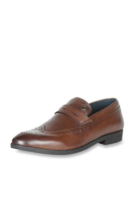 12264ed1fa0 Buy Louis Philippe Brown Formal Loafers for Men at Best Price   Tata ...