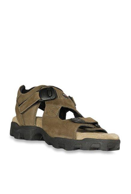 Woodland Olive Green Floater Sandals