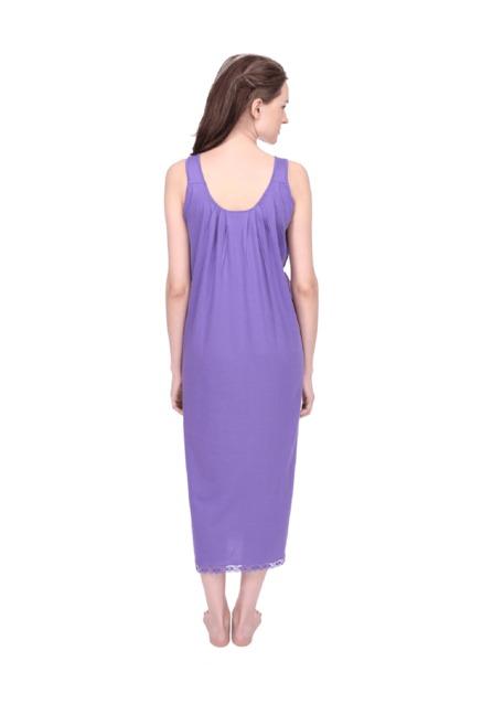 49bb1c5f38 Buy Red Rose Purple Cotton Nighty for Women Online @ Tata CLiQ