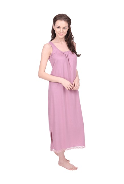 26543d6133 Buy Red Rose Rose Pink Cotton Nighty for Women Online @ Tata CLiQ