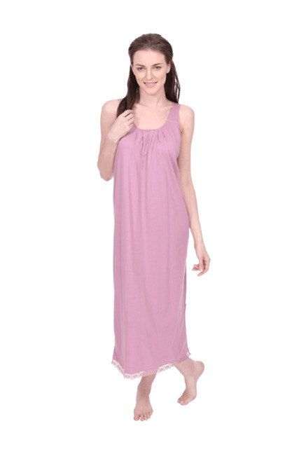79a6f78ca Buy Red Rose Rose Pink Cotton Nighty for Women Online   Tata CLiQ
