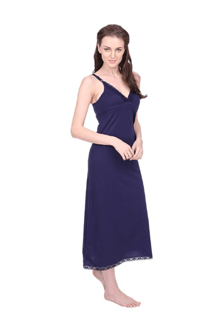 d575528445 Buy Red Rose Navy Cotton Nighty for Women Online @ Tata CLiQ