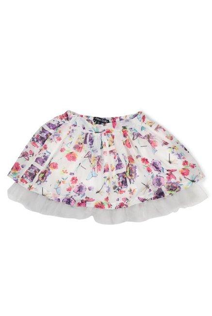 3c39a632dd Buy Allen Solly Junior White Printed Skirt for Girls Clothing Online ...