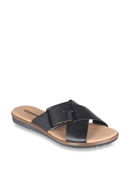 0acb52dbff4b Buy Clarks Kele Heather Black Cross Strap Sandals for Women at ...