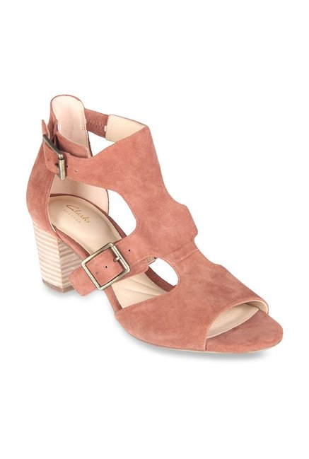 3aa7b2ef51a0 Buy Clarks Deloria Kay Peach Ankle Strap Sandals for Women at Best ...
