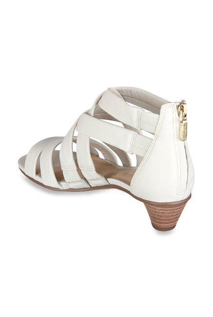 ac6275aca6d Buy Clarks Mena Silk White Cross Strap Sandals for Women at Best ...