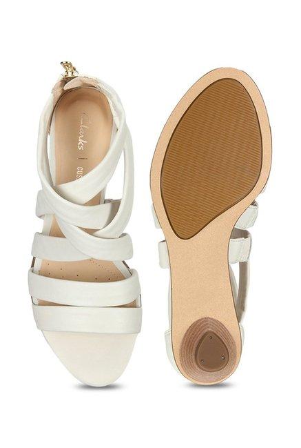 5c73f22dcbb1 Buy Clarks Mena Silk White Cross Strap Sandals for Women at Best ...