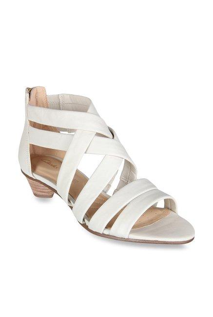 09eab98592a Buy Clarks Mena Silk White Cross Strap Sandals for Women at Best Price    Tata CLiQ