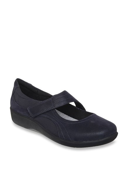 26d2bc2b5ae Buy Clarks Sillian Bella Navy Mary Jane Shoes for Women at Best ...
