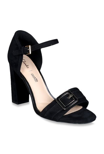 862d99d0bb30 Buy Clarks Curtain Shine Black Ankle Strap Sandals for Women at ...