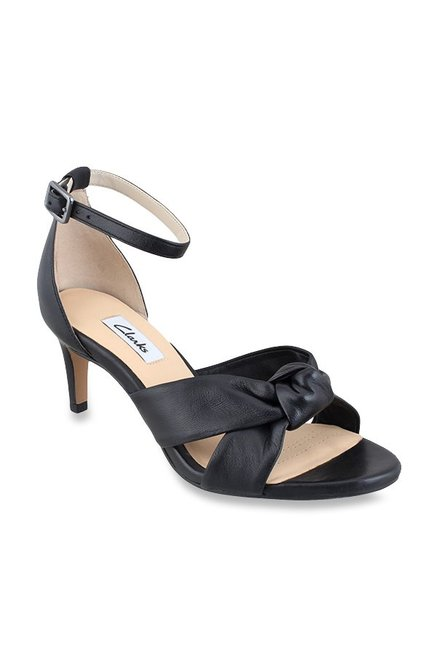 2a5c367192d Buy Clarks Amali Tulip Black Ankle Strap Stilettos for Women at Best Price    Tata CLiQ