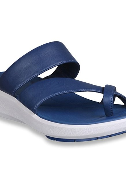 5f2576a4608 Buy Clarks Wave Bright Navy Cross Strap Wedges for Women at Best ...
