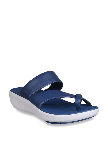 0517229a7c0 Buy Clarks Wave Bright Navy Cross Strap Wedges for Women at Best Price   Tata  CLiQ