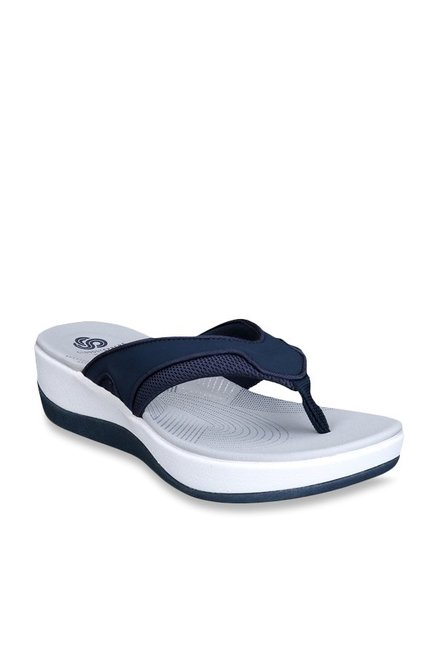1f56a9f3ff4da0 Buy Clarks Arla Marina Navy Thong Sandals for Women at Best Price   Tata  CLiQ