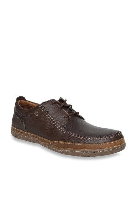 günstig kaufen ausgewähltes Material großer Lagerverkauf Buy Clarks Trapell Apron Dark Brown Derby Shoes for Men at Best Price @  Tata CLiQ