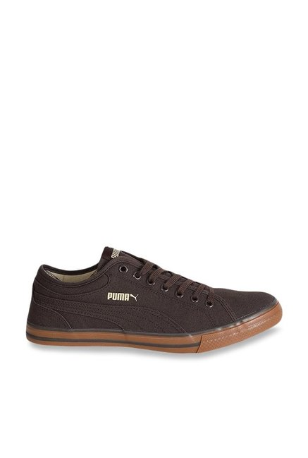 d82084f8927825 Buy Puma Yale Gum Solid CO IDP Dark Brown Sneakers for Men at Best Price    Tata CLiQ