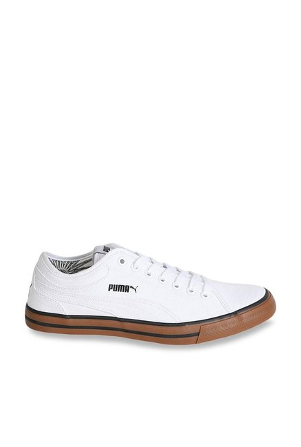 Buy Puma Yale Gum Solid CO IDP White   Brown Sneakers for Men at Best Price    Tata CLiQ ace164f57