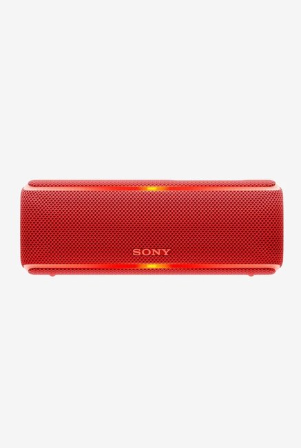 Sony SRS-XB21 Portable Bluetooth Speaker, Red