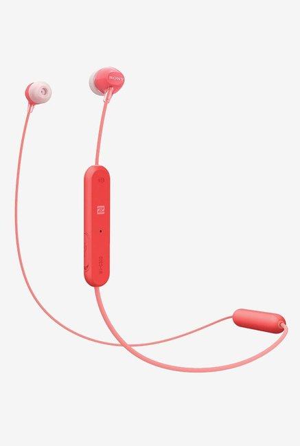 Sony WI-C300 Wireless Earphones (Red)