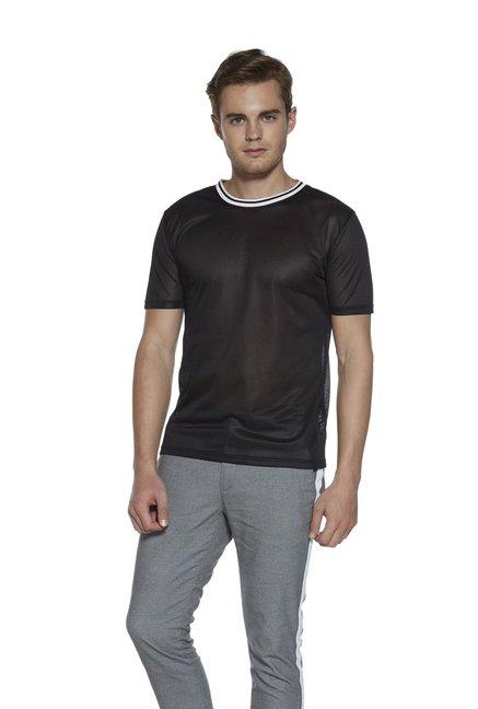 3915b2e5b0 Buy Nuon by Westside Black Slim Fit Mesh T-Shirt for Men Online @ Tata CLiQ