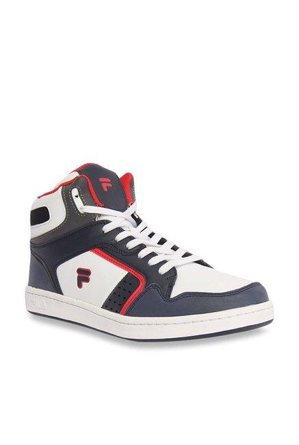 försäljning återförsäljare till salu ser bra ut försäljning Buy Fila Attavio II Navy & White Ankle High Sneakers for Men at Best ...