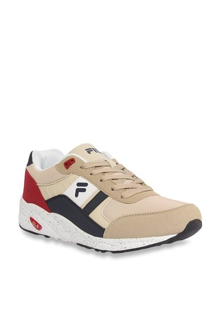 3acd69e473 Buy Fila Johan Beige & Red Sneakers for Men at Best Price @ Tata ...