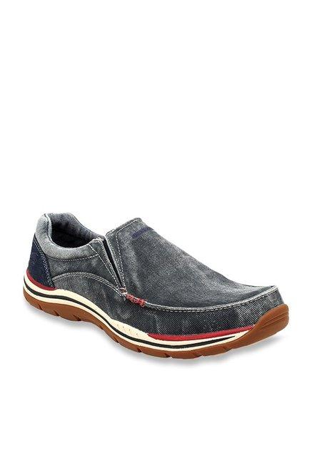 ee6fd24118e Buy Skechers Avillo Grey Slip-Ons for Men at Best Price   Tata CLiQ