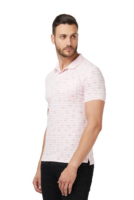 Buy Easies Peach Half Sleeves Slim Fit Cotton T-Shirt for Men Online ... a9493f73a