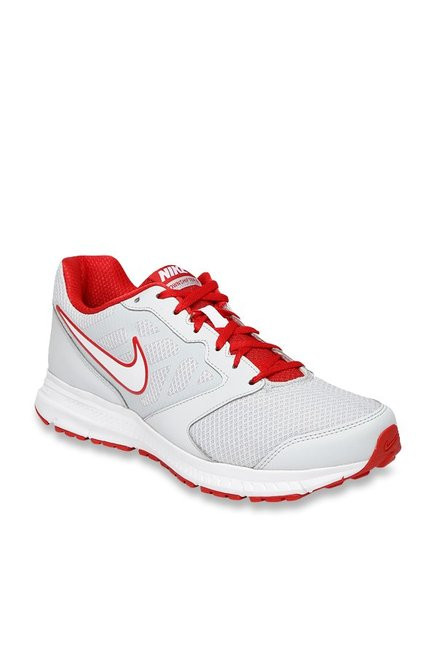 d7eef47792f Buy Nike Downshifter 6 MSL Light Grey   Red Running Shoes for Men at Best  Price   Tata CLiQ