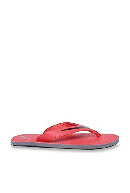 09c7e2c56ee0 Buy Nike Chroma 5 Red Flip Flops for Men at Best Price   Tata CLiQ