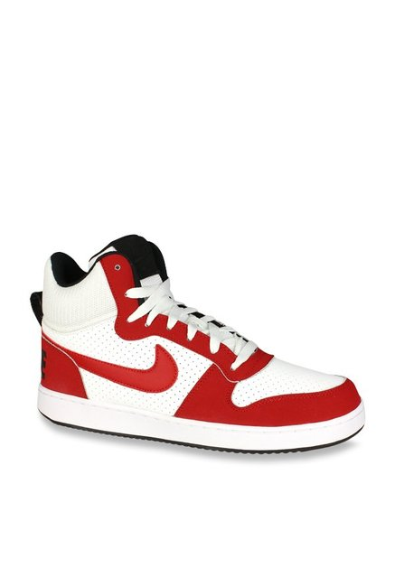 b4e34187e48d3e Buy Nike Court Borough Mid Red   White Ankle High Sneakers for Men at Best  Price   Tata CLiQ