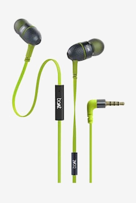 Boat BassHeads 225 Earphones with Mic (Neon Lime)