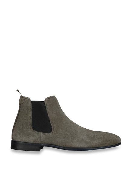 Buy Red Tape Grey Chelsea Boots for Men