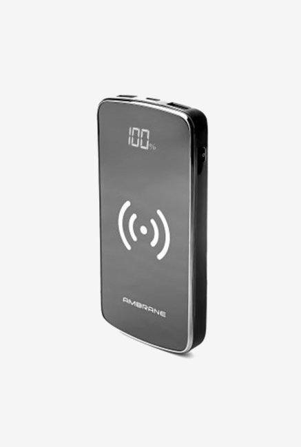 Ambrane PW-11 10000mAh Power Bank with Qi Wireless Charging (Black)