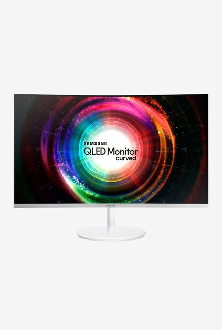 Samsung LC27H711QEWXXL 68.4 cm (26.9 Inch) Curved QLED Curved Monitor (Metallic Silver)