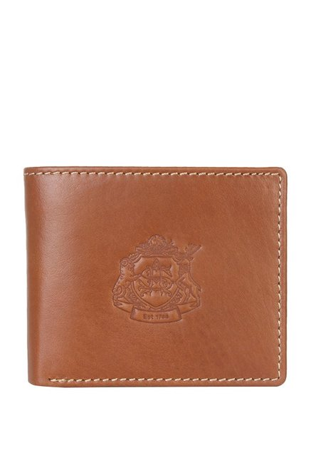 413f36220110 Buy Allen Solly Tan Stitched Leather Bi-Fold Wallet For Men At Best Price    Tata CLiQ