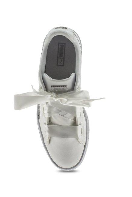 Buy Basket Whiteamp; Heart Kids For Puma Bling Jr Sneakers Silver OXZuPlwkiT