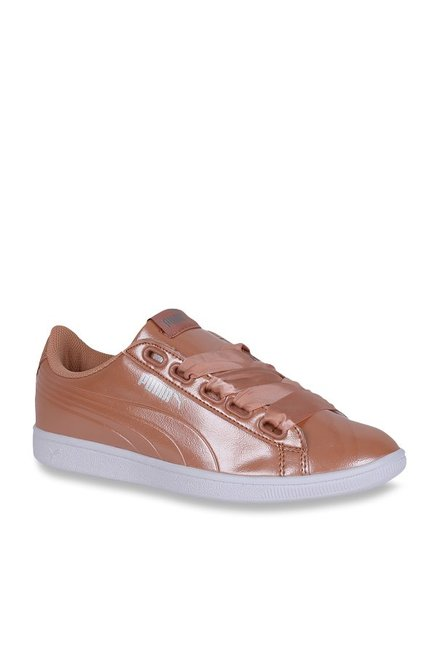half off 6ab87 fa15d Buy Puma Vikky Ribbon P Dusty Coral Sneakers for Women at ...